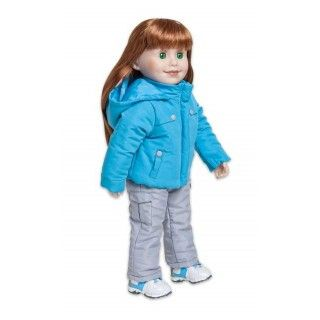 Ice Wave: This snowboarder-style jacket and pants will keep Jenna snuggly warm. Add the hat and mitts (KJ23) and snow boots (KJ16), which are sold separately, and she'll be ready for any winter activity.