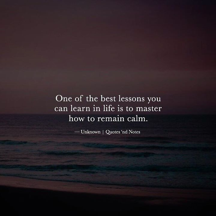 One of the best lessons you can learn in life is to master how to remain calm.  Unknown | Quotes 'nd Notes via (http://ift.tt/2gBwWiB)