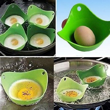 Egg Poacher –Oil Free Cups with Ring Standers, For Microwave or Stove-top Egg Cooking,, BPA Free, Pack of 4  #buyatwebsite #exclusive #techlaunches #3DaysDelivery #theimmart #CallUsNowOn7073244450 #CODINDIA