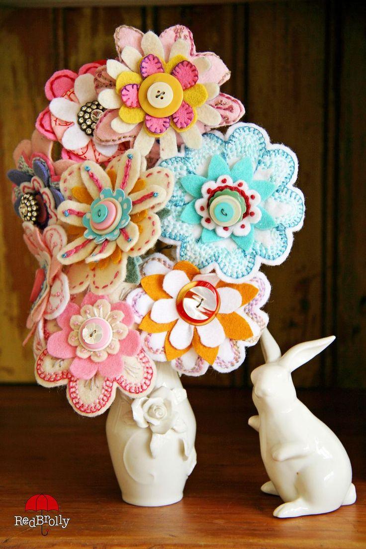 {D.I.Y Tutorial} Stitched Felt Flowers-Part 1