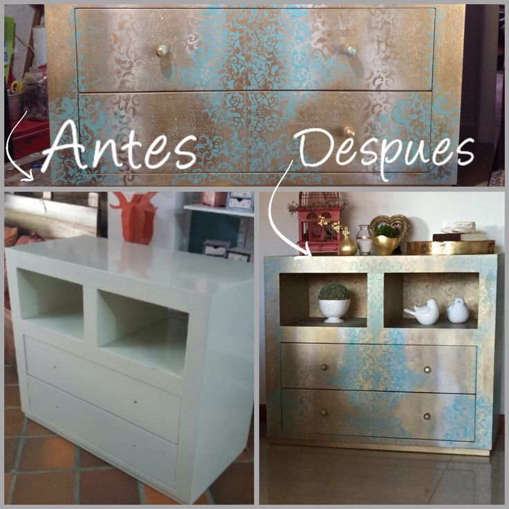 Mueble restaurado , pintado a mano