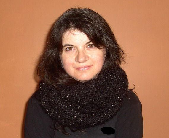 Echarpe snood, très douce, tricotée main, en super kid mohair pour femme