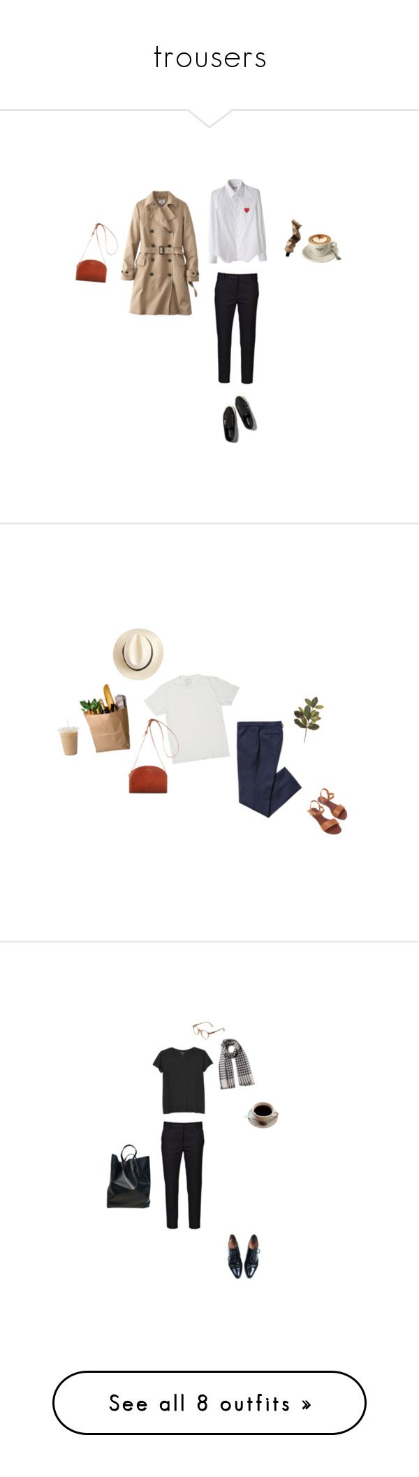 """""""trousers"""" by youthcult ❤ liked on Polyvore featuring Comme des Garçons, 3.1 Phillip Lim, Uniqlo, Abercrombie & Fitch, A.P.C., Aesop, J.Crew, beauty, Marc Jacobs and Burberry"""