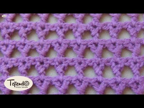 Crochet. Punto tejido a ganchillo 3. - YouTube