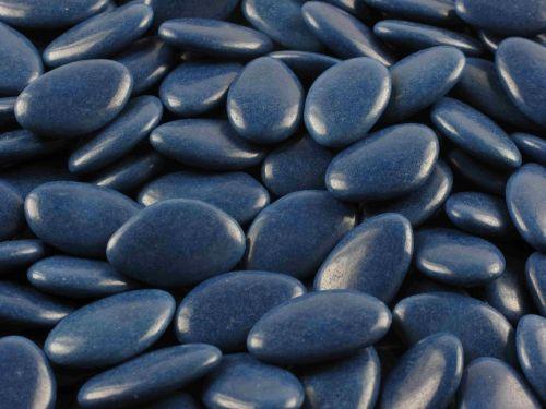 Sachet 1 kilo de dragees  chocolat bleu fonce