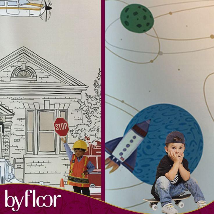 Uma nova coleção para inspirar nossos pequenos rapazinhos !!! Quartos que antecipam o futuro e brincam no presente com várias possibilidades de profissões ... Na BY FLOOR para ilustrar os projetos mais incríveis ! #byfloor #decoração #revestimentos #design #ambientação #arquitetura #janelas #camengo #casamance #casadeco #coordoné #wallpaper #papeldeparede
