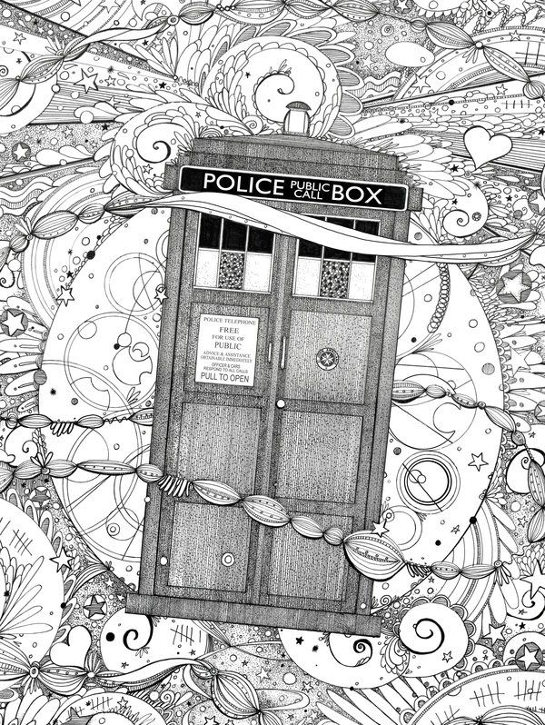 Dr Who Doodle Coloring Pages Colouring Adult Detailed Advanced Printable Kleuren Voor Volwassenen Coloriage Pour Adulte