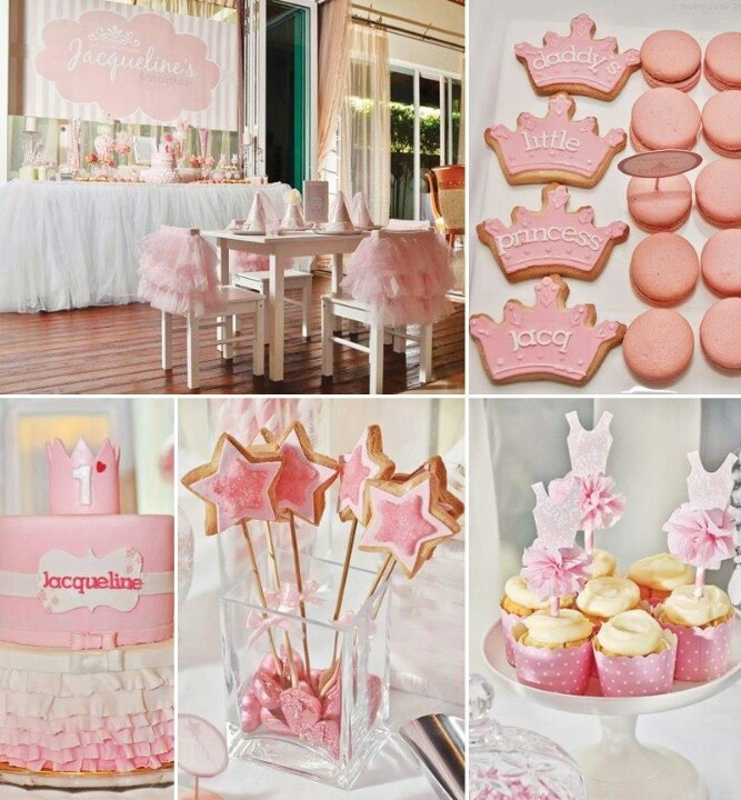 Baby 39 S 1st Princess Party Birthday Ideas Pinterest
