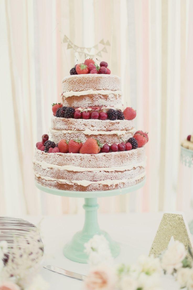 THREE SISTERS BAKE // CRAIG AND EVA SANDERS PHOTGRAPHY // wedding cake scotland naked cake style me pretty