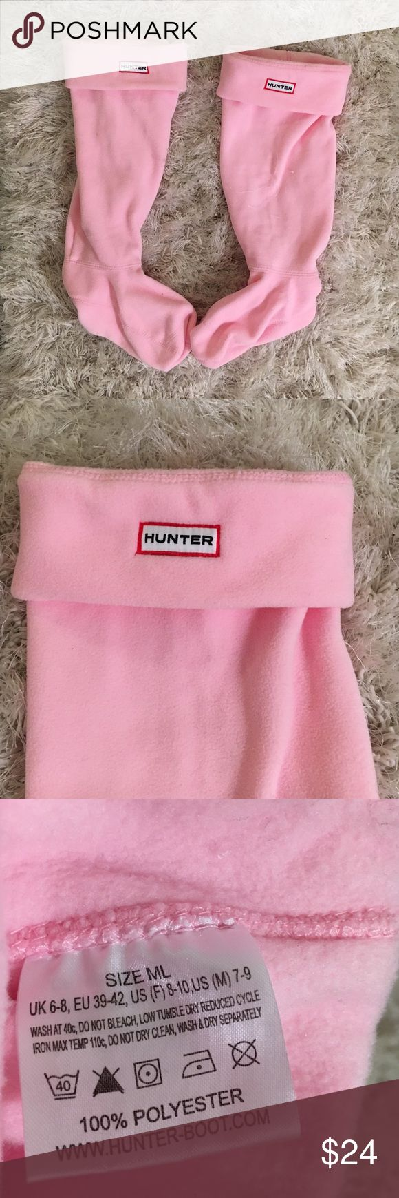 NWOT Hunter Welly socks 💞 Light pink, never worn, perfect condition, no box! Feel free to make an offer ☺️🌇 Hunter Boots Accessories