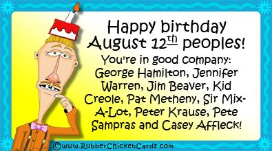 Happy August Birthday Everyone A Free Social Media Card By Rubber Chicken  Cards