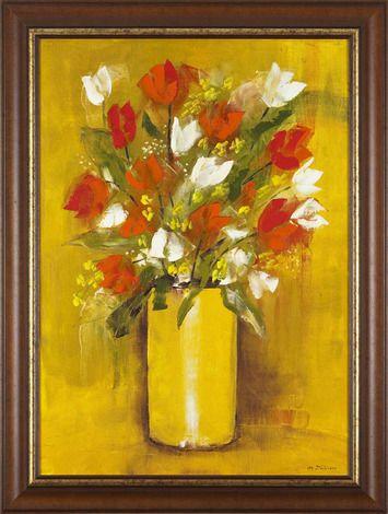 Olejomaľba, Milena Ďuricová, Kytica tulipánov, 445 €, 61x81cm