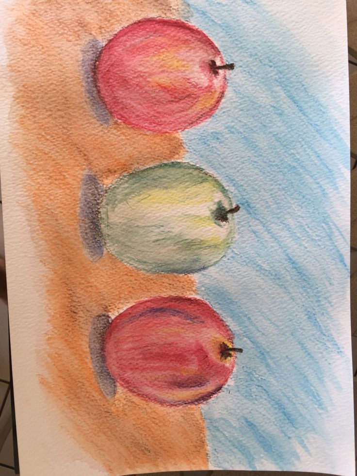 My first try with water color pencils
