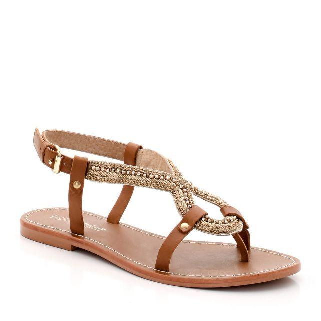 Sandales plates en cuir, Laura Clement