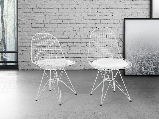 Stoel wit - eetkamerstoel - keukenstoel - leren stoel - MULBERRY ✓ Koop zonder risico op rekening met 365 dagen herroepingsrecht