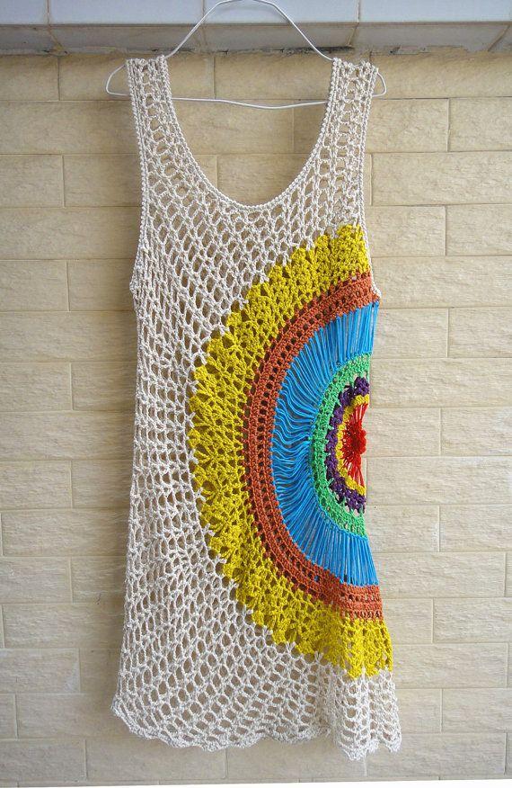 Crochet Dress Boho Summer Beach Dress by TinaCrochet2016 on Etsy
