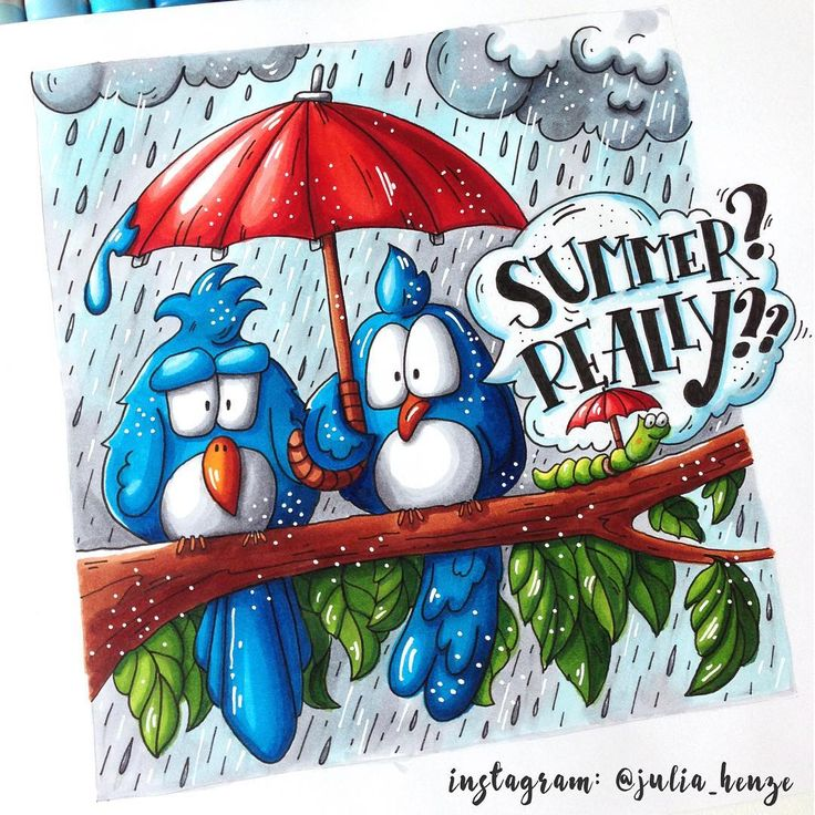 Summer? Really?? | by Julia Henze | 3/8 theme of the Summer Drawing Challenge with Lisa Krasnova | Theme: Summer creatures.