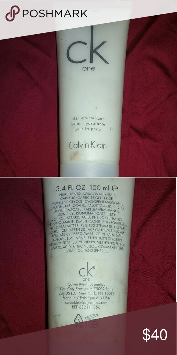 CK ONE Calvin Klein CK ONE Skin Moisturizer  (fragrance). Full bottle. Never used. Calvin Klein Other