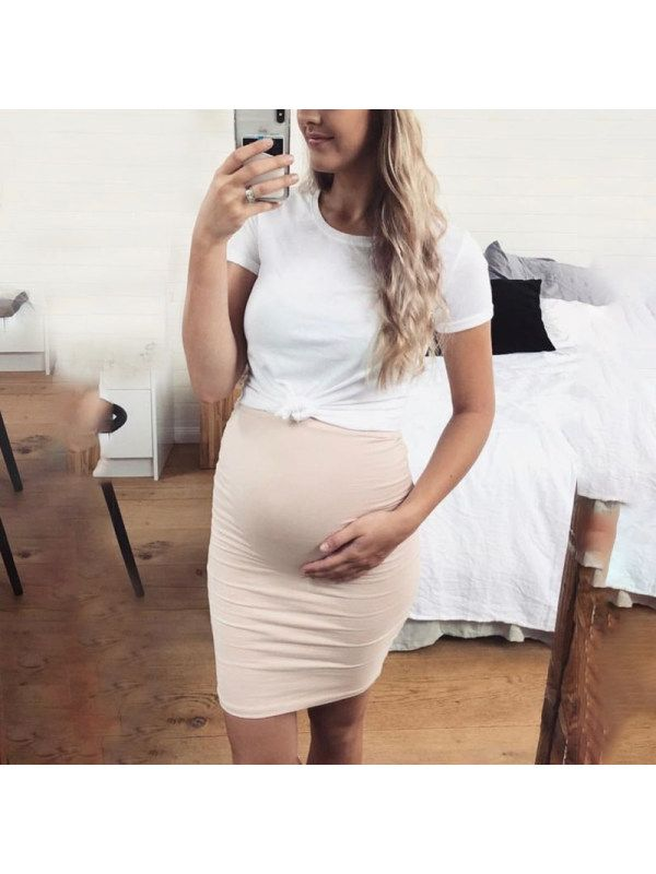 Maternity Short Sleeve Double Layer Bodycon Dress – Lukalula.com   – Maternity dresses
