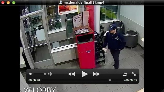 A video of a man stealing a handbag from the McDonald's Restaurant on Hoosick Street was released Thursday by city police who said they hope the movie leads them to the thief.  The Patriots play the Atlanta Falcons on Sunday.