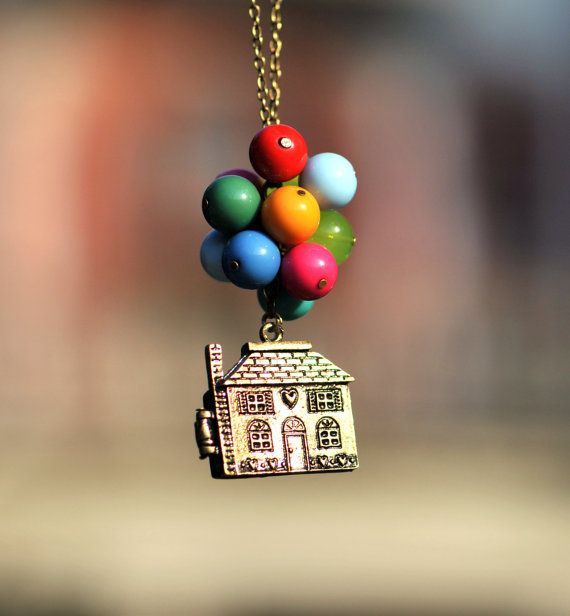 NecklaceBeadwork Necklace Flying HouseFlying by fantasticgift on etsy. Loved the movie Up! First thing I thought of when I saw this.: