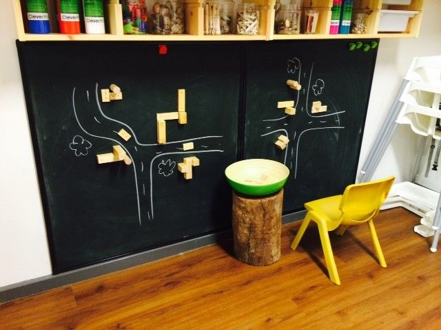 Using Magnetic Blocks on the Wall