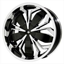 Black Ice Wheels Black Ice Black Widow Black with Chrome Wheels - Black Ice Wheels Wheels on sale, cheap rims, cheap wheels from Black Ice Wheels at discount prices