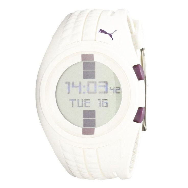 Puma PU910482001U Women's Shift Grey Digital Dial White Chronograph Quartz Watch