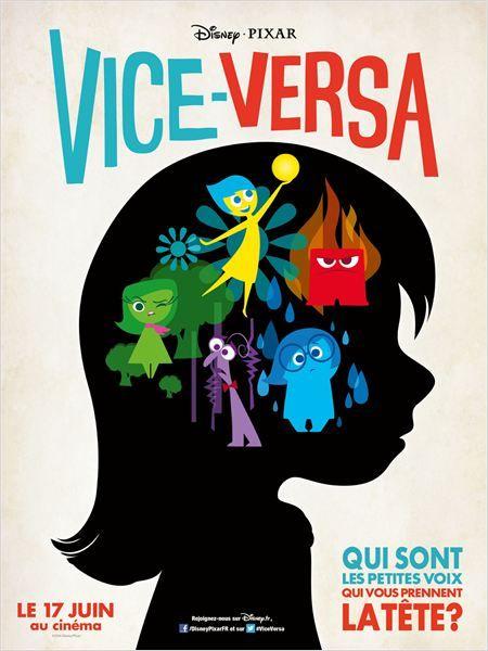 Bande annonce FR et affiche de Vice-Versa (Disney Pixar).