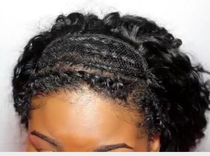 Flip over sew in braiding method