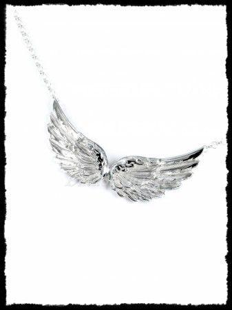 Ezüst  angyalszárny nyakék