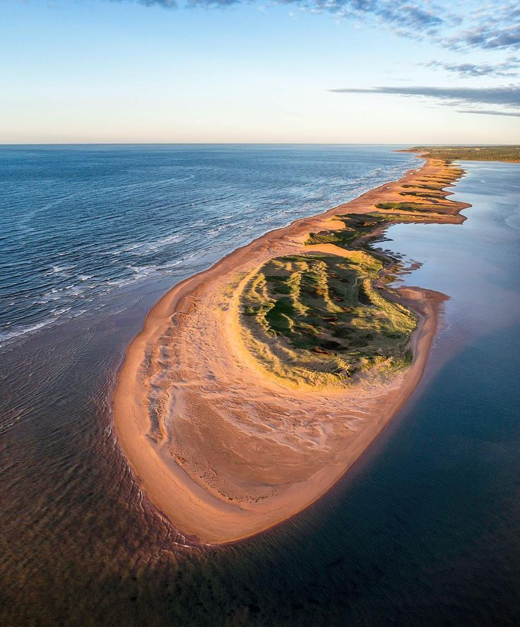 Sunset on the north shore of Prince Edward Island from a drone at (@imagesofcanada) on Instagram by @dronehikers #ImagesofCanada