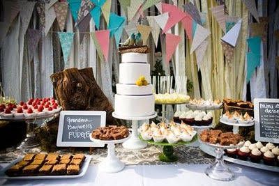Bunting dessert table.