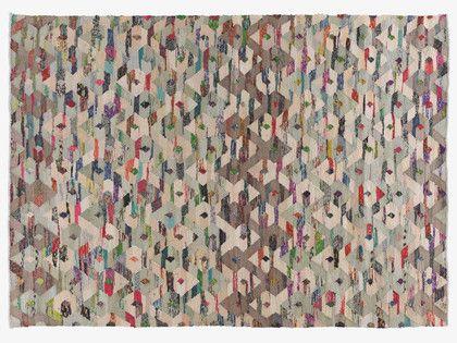 TRIGAS MULTI-COLOURED Cotton blend Large multi-coloured flat weave rug 170 x 240cm - HabitatUK