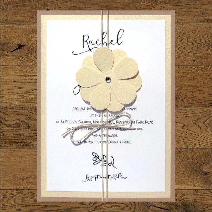 Twig (white) - gold flower