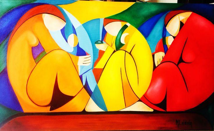 Cuadro al oleo# abstracto#pincel