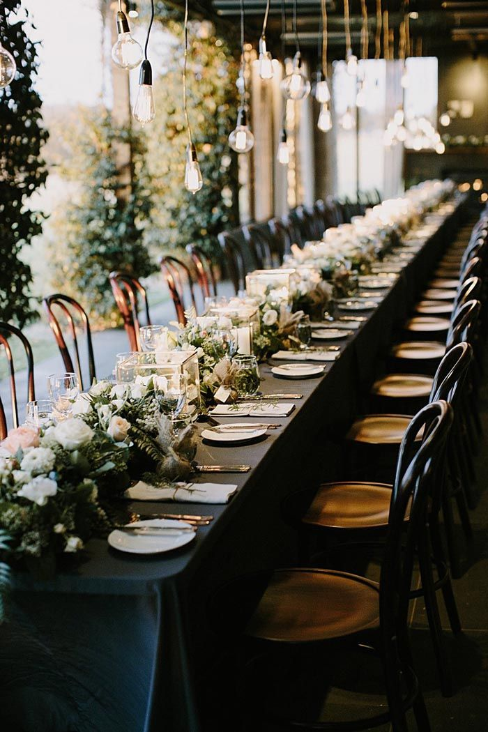 An elegant outdoor wedding styled with elegant simplicity by Main Event Weddings showcases the beauty of the outdoors and brings it inside.