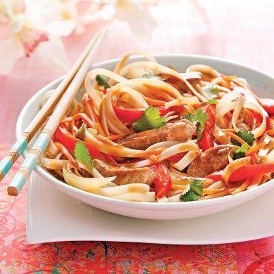 Nouilles sautées au porc, sauce thaï - Recettes - Cuisine et nutrition - Pratico Pratique