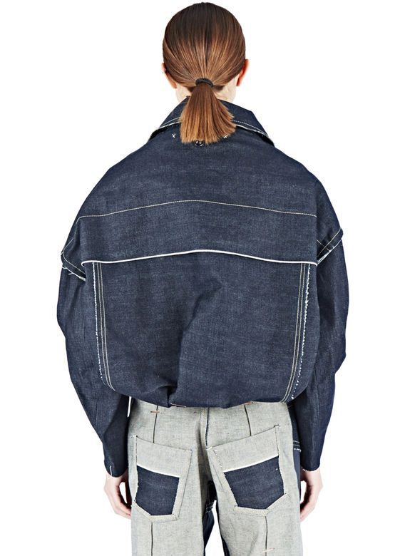 Hannah Jinkins Raw Denim Trucker Jacket