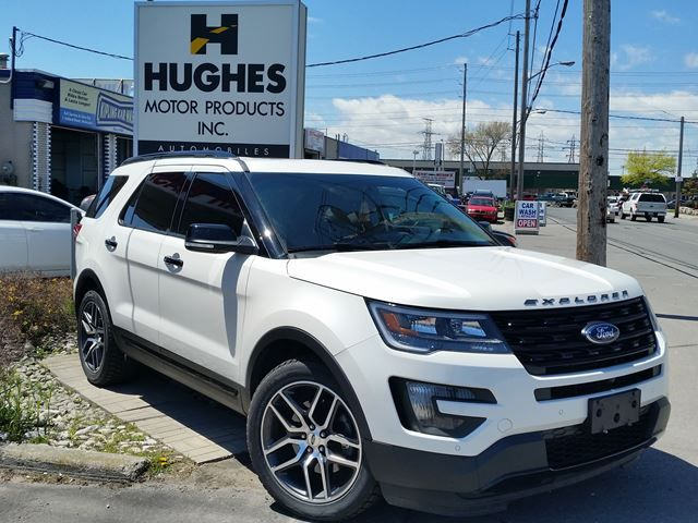 2016 Ford Explorer Sport 7 passenger. Aluminum wheels, cruise control ABS brakes, heated mirrors and more. Hughes Motor Products 416-252-1100