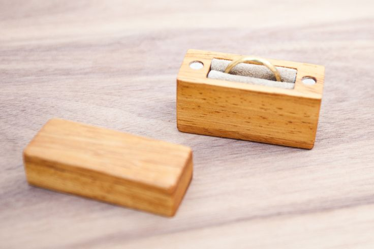 Ring box made from hickory wood - engagement ring box - proposal ring box - MADE TO ORDER