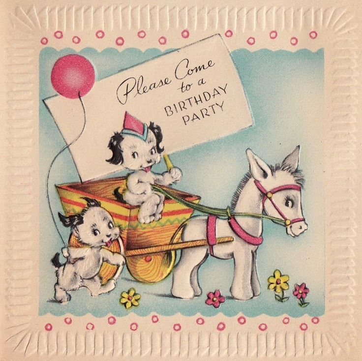 41 best Vintage Greetings Misc images – Donkey Birthday Card