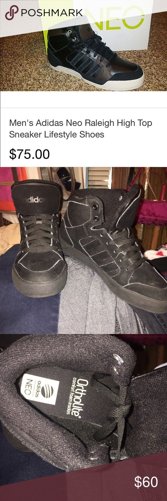 Adidas Neo High Tops New!! Never worn ! Size Mens: 7 Adidas Shoes Sneakers