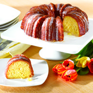 This cake can be baked in this special rose cake pan for a fun presentation or in a regular bundt pan. Either way it is a great orange flavored cake that friends and family will enjoy!