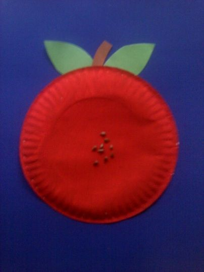 Preschool Crafts for Kids*: Easy Paper Plate Apple Craft