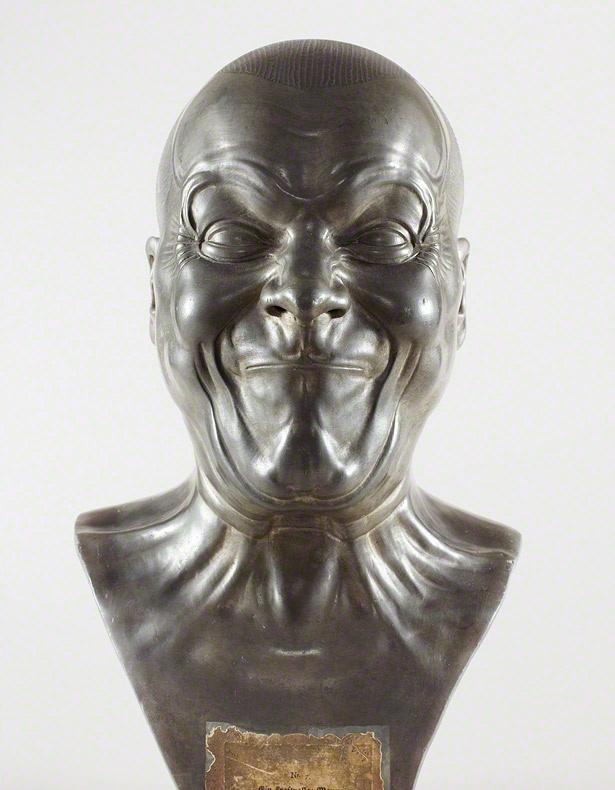 A Strong Man, after 1770, Franz Xaver Messerschmidt. Tin-lead alloy, 17 1/2 in. high.