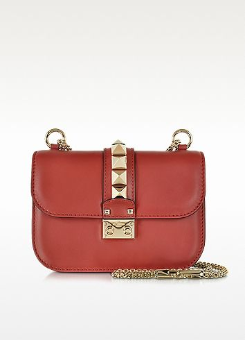 Rosso Valentino Leather Small Shoulder Bag - Valentino