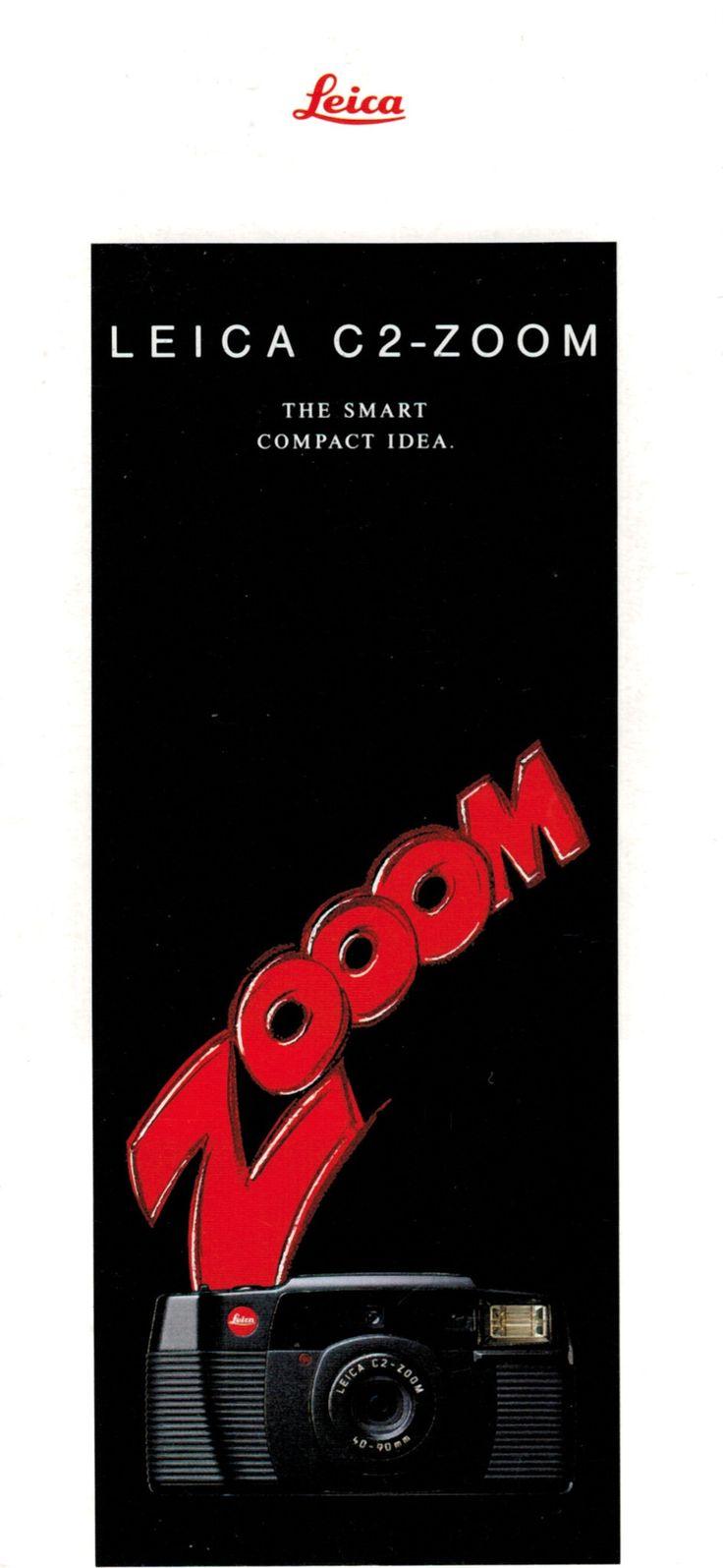 Leica C2-Zoom camera sales brochure 1991 original Leitz pamphlet