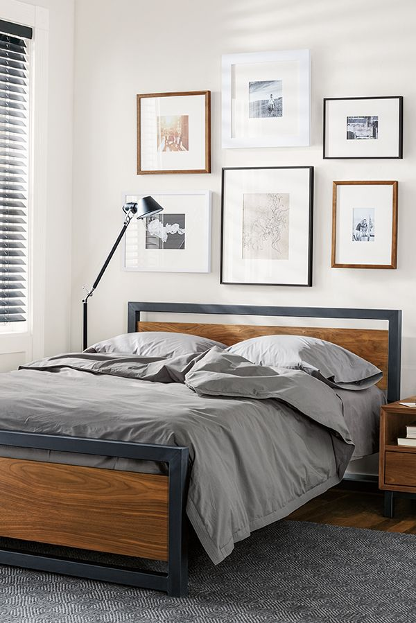 Piper Wood Bed In Natural Steel Modern Contemporary Beds