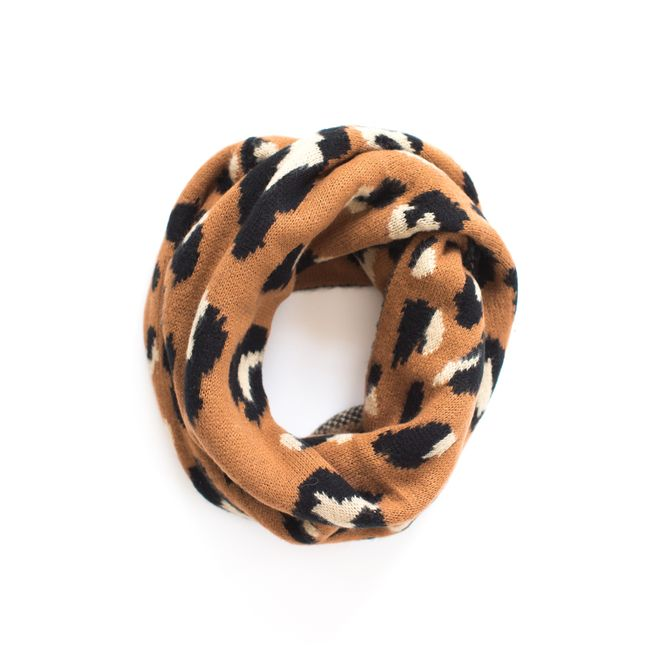 Nickel and Suede Leopard Scarf. So soft, so perfect.